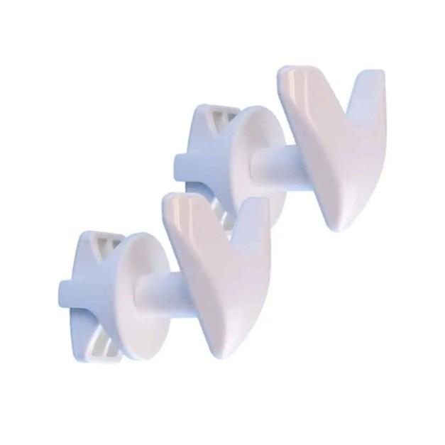 WillieJan Dubbele Radiator Handdoekenhaak 910W - Wit - set 2 stuks dubbele haak - Radiatorbevestiging - Zonder boren