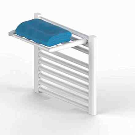 WillieJan Radiator towel rack 90MW - White - 5 bars - 46 cm - Radiator mounting - Without drilling