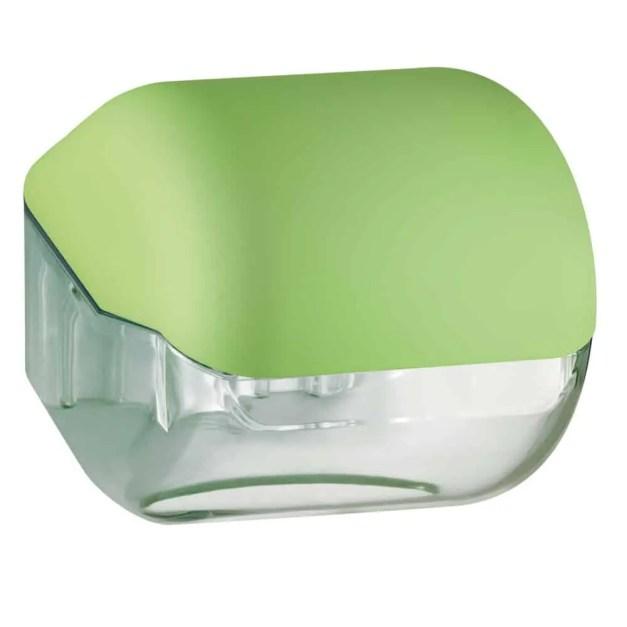 Marplast toiletpapier houder A61900VE - Groen met transparant - geschikt voor traditionele Rollen toiletpapier