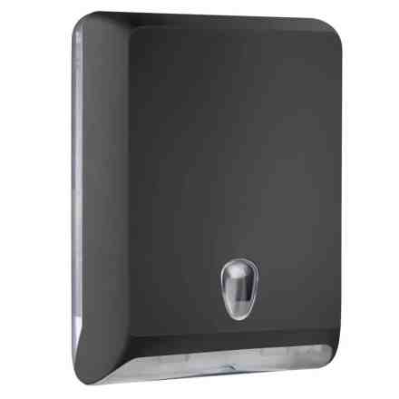 Marplast paper towel dispenser A83010ENE - Black - capacity - 600 sheets - for Z, C and V folded towels