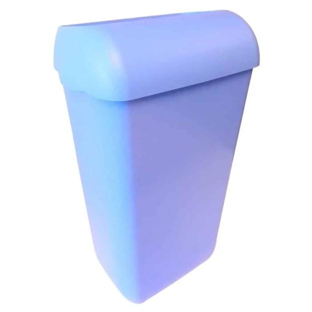 Marplast afvalbak -Blauw - 23 liter - met hidden cover - muurbevestiging of vrijstaand