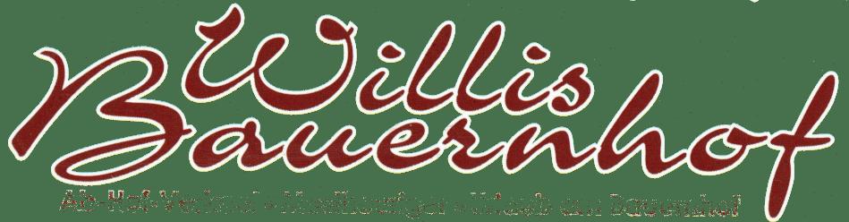 Schriftzug Willis-Bauernhof