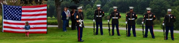 Marines and flag Rifle Volley