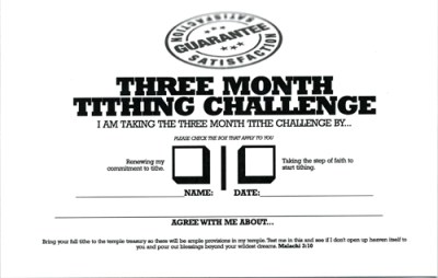 Three Month Tithing Challenge