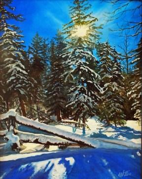 Fresh Snow 14 x 11 $20