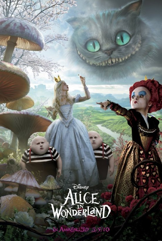 Alice in Wonderland - Cheshire Cat, Tweedledee, Alice, Tweedledum, and Red Queen