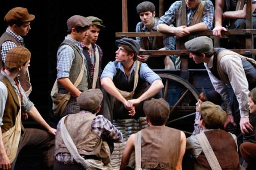 Corey Cott and the cast of Newsies (Heidi Gutman; IBDB)