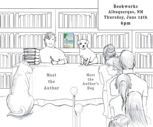 Author & Dog Book Tour at Bookworks in Albuquerque, New Mexico