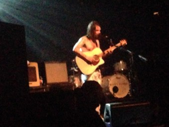 Biffy Clyro front man Simon Neil playing 'God and Satan' solo on acoustic guitar