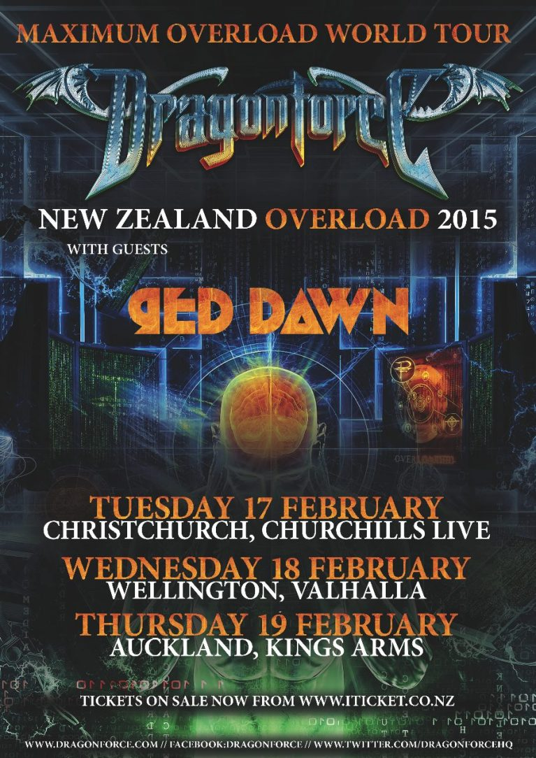 Dragonforce Overload NZ poster Valhalla Welington