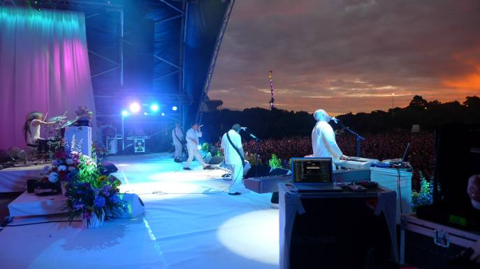 Faith No More playing at Westfest in Auckland. Photo taken from Faith No More's Facebook page