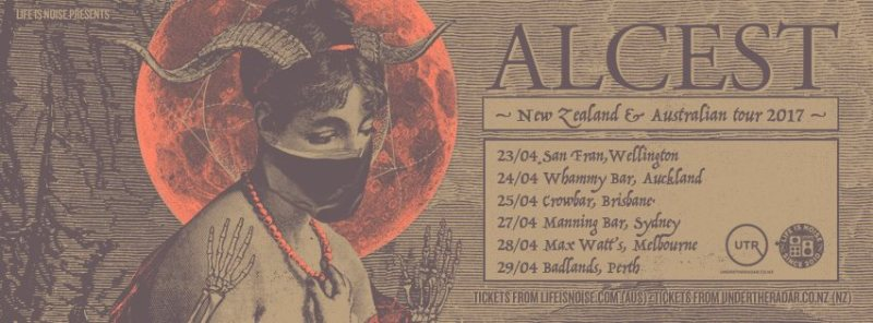 Alcest Au NZ tour poster