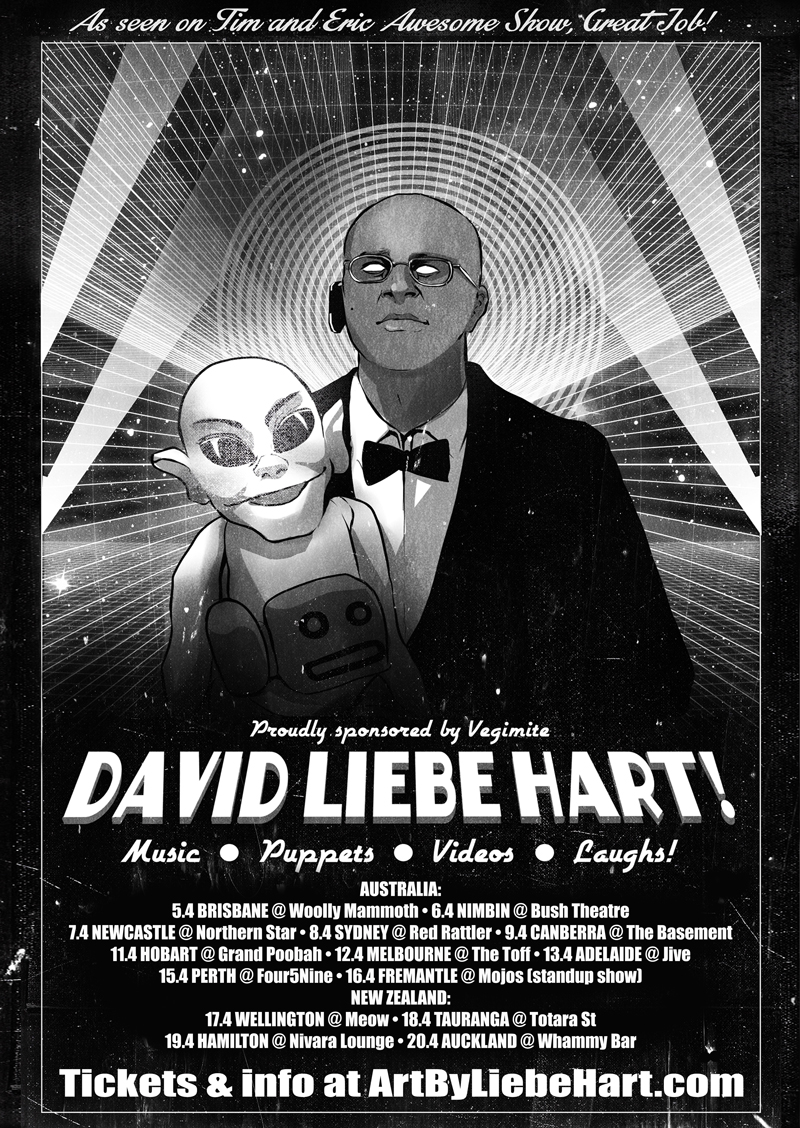 David Liebe Hart Au NZ tour poster