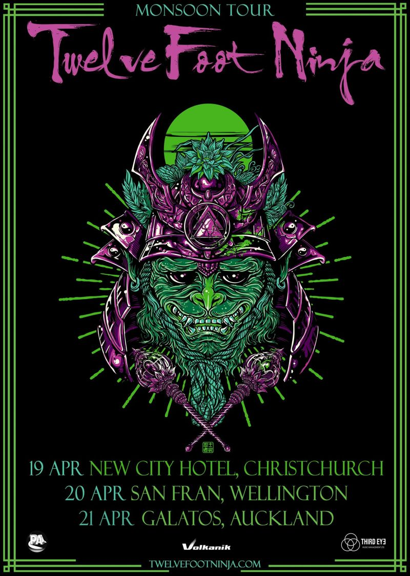 Twelve Foot Ninja NZ Monsoon Tour Poster