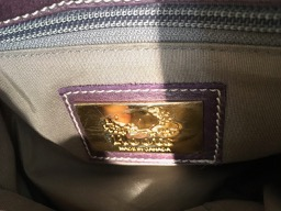 Roots canada purple leather purse - 2