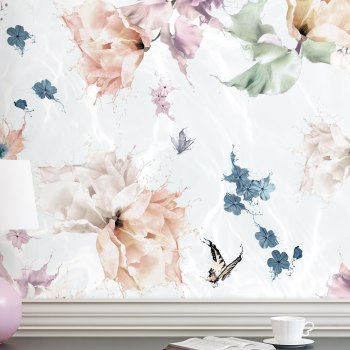 floral butterfly wallpaper