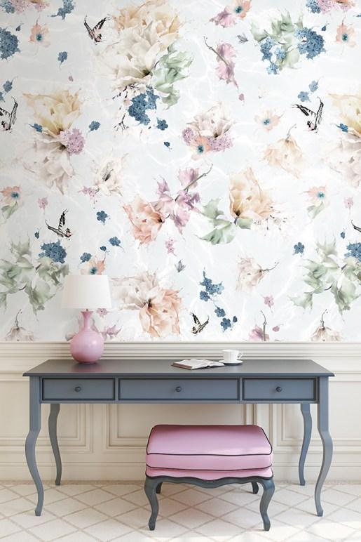 Romantic butterfly wallpaper