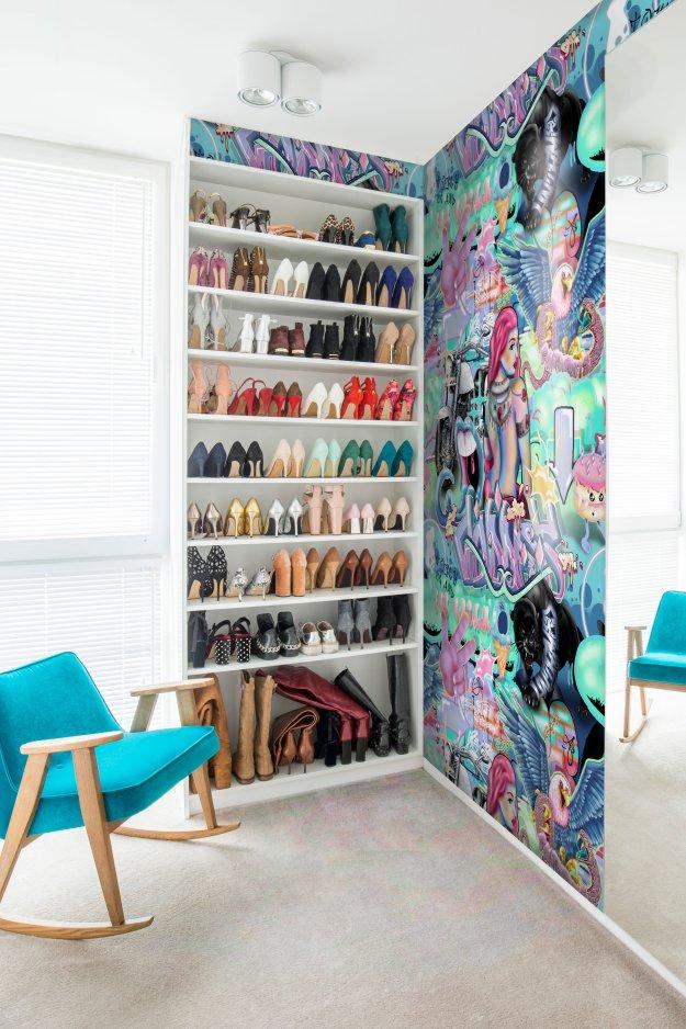 Cool Funky Interior Wallpaper Walk in Wardrobe Decor Design