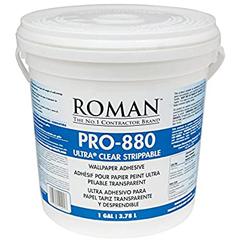 Roman Pro-880 Ultra Clear Strippable Wallpaper Adhesive 3.78L 4L