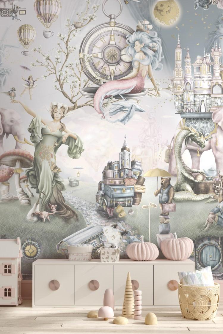 Beautiful girls wallpaper wall mural