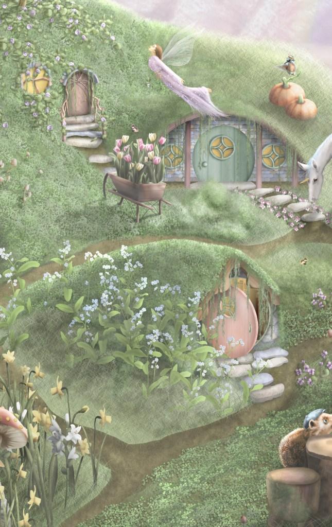 Fairy Garden Kids wallpaper wall mural