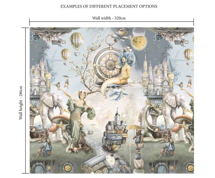 Boys dragon and fantasy animals wallpaper wall mural