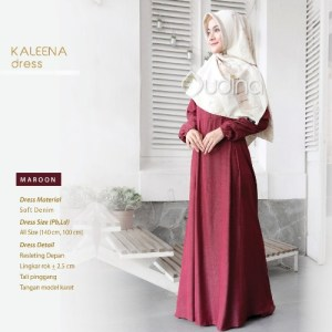 Kaleena Dress Maroon