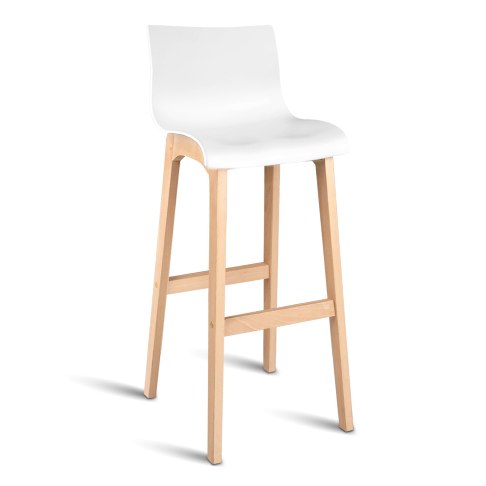 Wood Bar Chairs Luxury Beech Wood Set Of 2 Bar Stools White