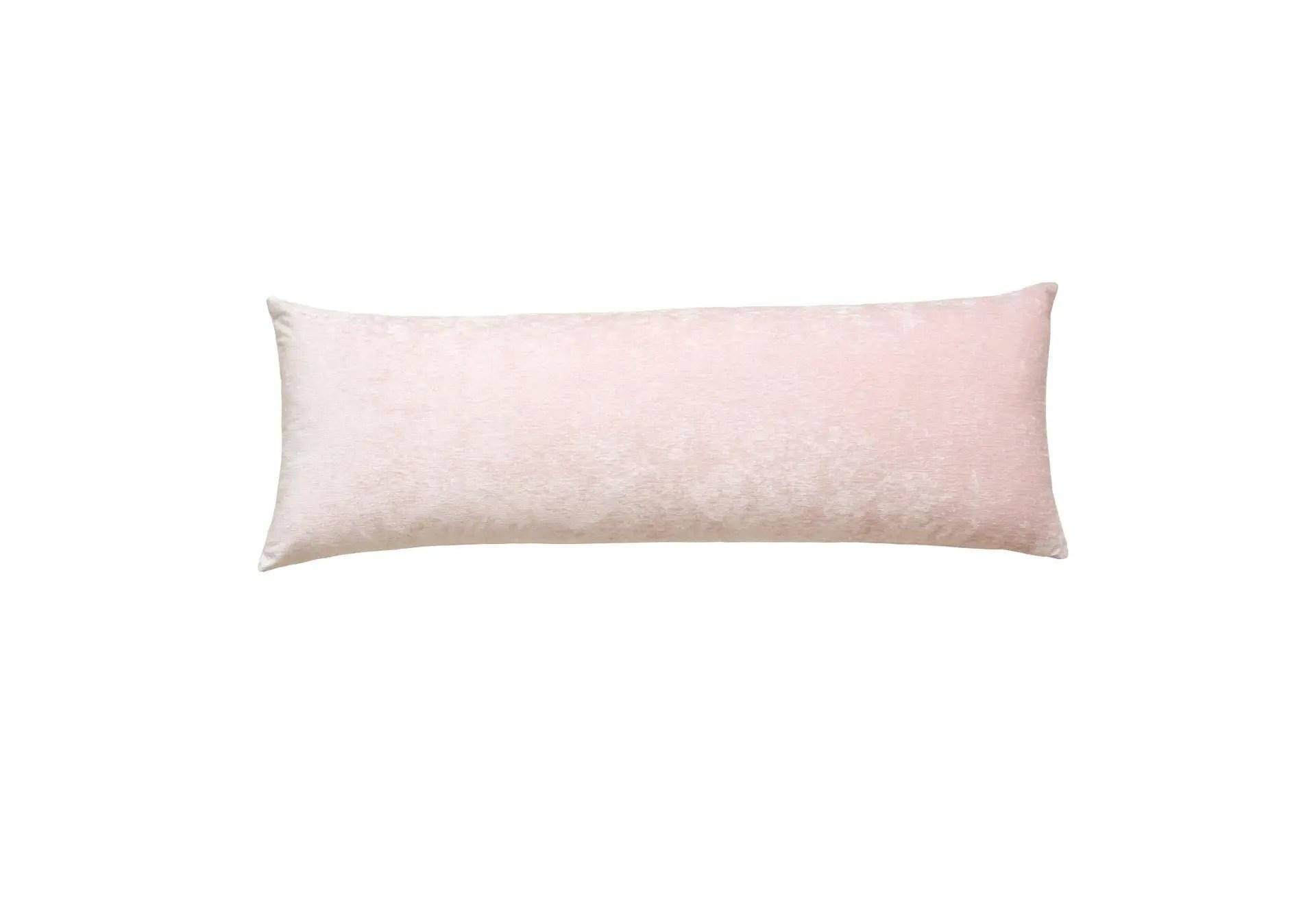 velvet blush large lumbar pillow