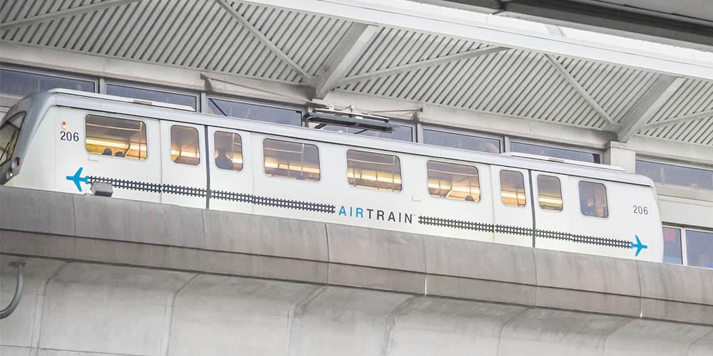AirTrain at JFK New York Airport USA
