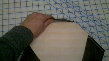 Step 12: Showing the under side pockets created by Sewing
