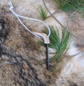 Ferro Rod on Coyote Fur
