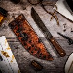MAKE A SHEATH FOR THE OLD HICKORY BUTCHER KNIFE