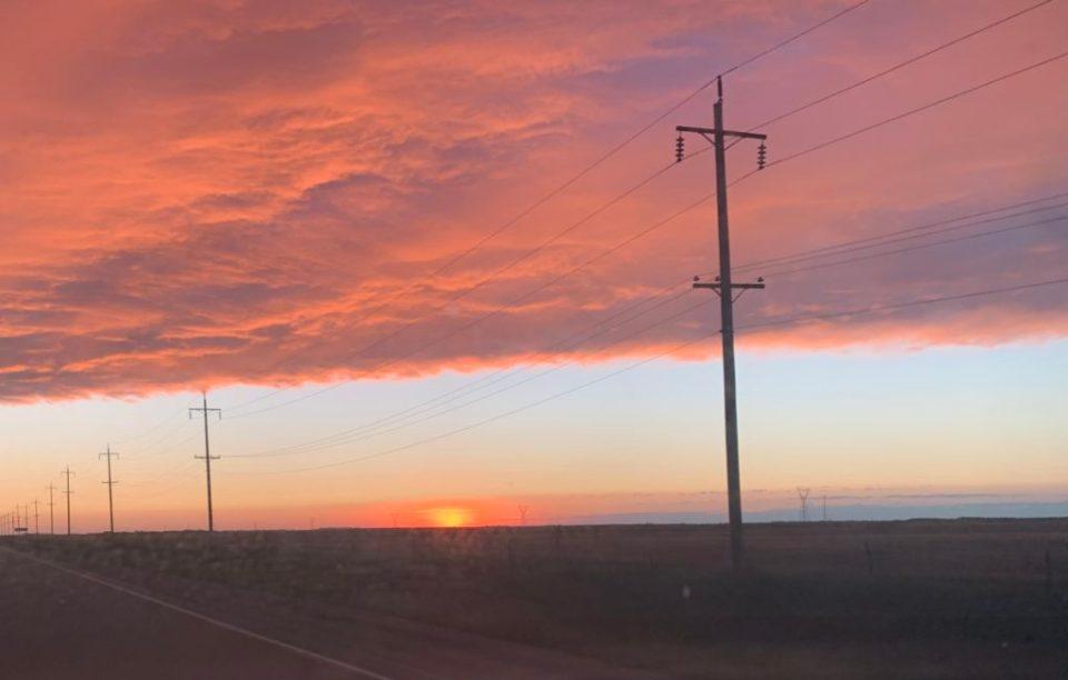 Prairie Sunset in Shilo Manitoba