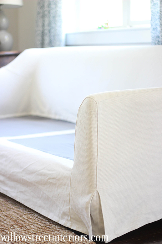 ikea sectional sofa covers cindy crawford farlov slipcovered review {and washing tips}
