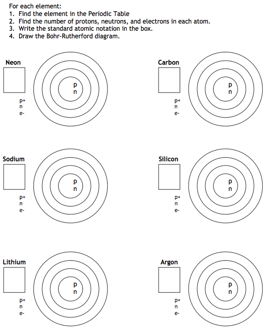 medium resolution of bohr rutherford model practice