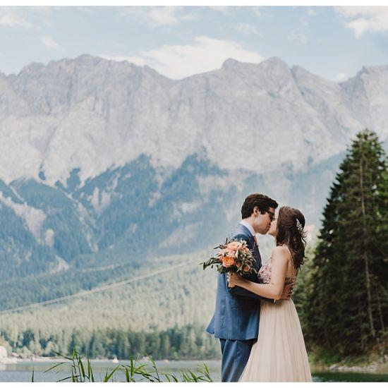 Bavarian wedding near lake eibsee