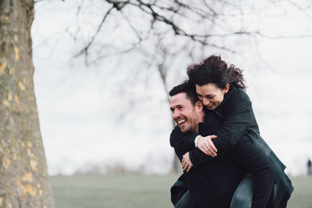 Engagement shoots - perfect for a piggyback!