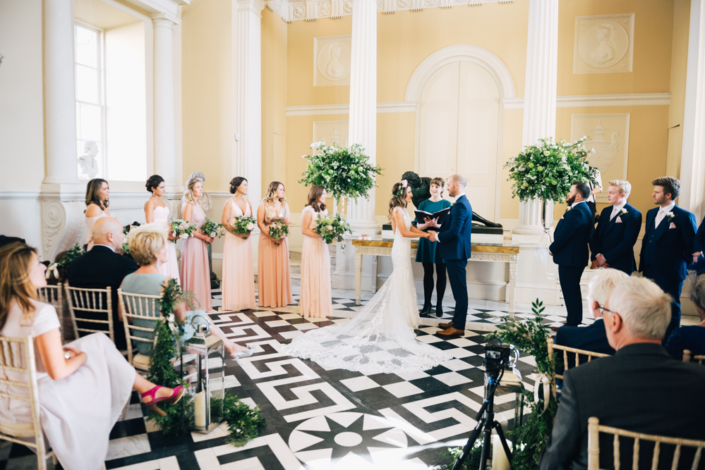 Wedding ceremony underway at Syon House