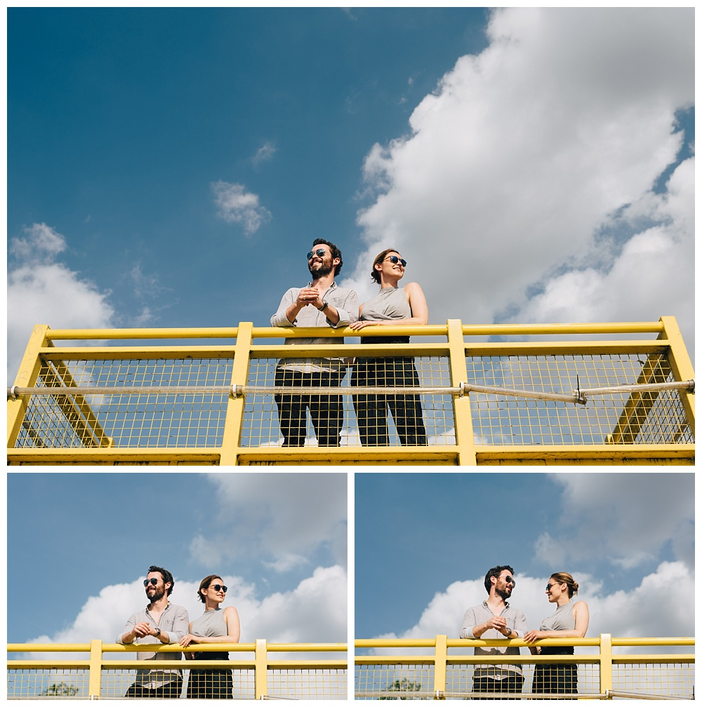 Southbank engagement shoot with blue skies