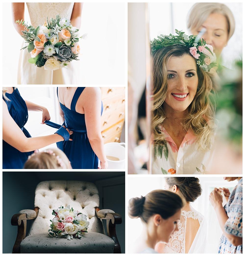 Bridal wedding day preparations