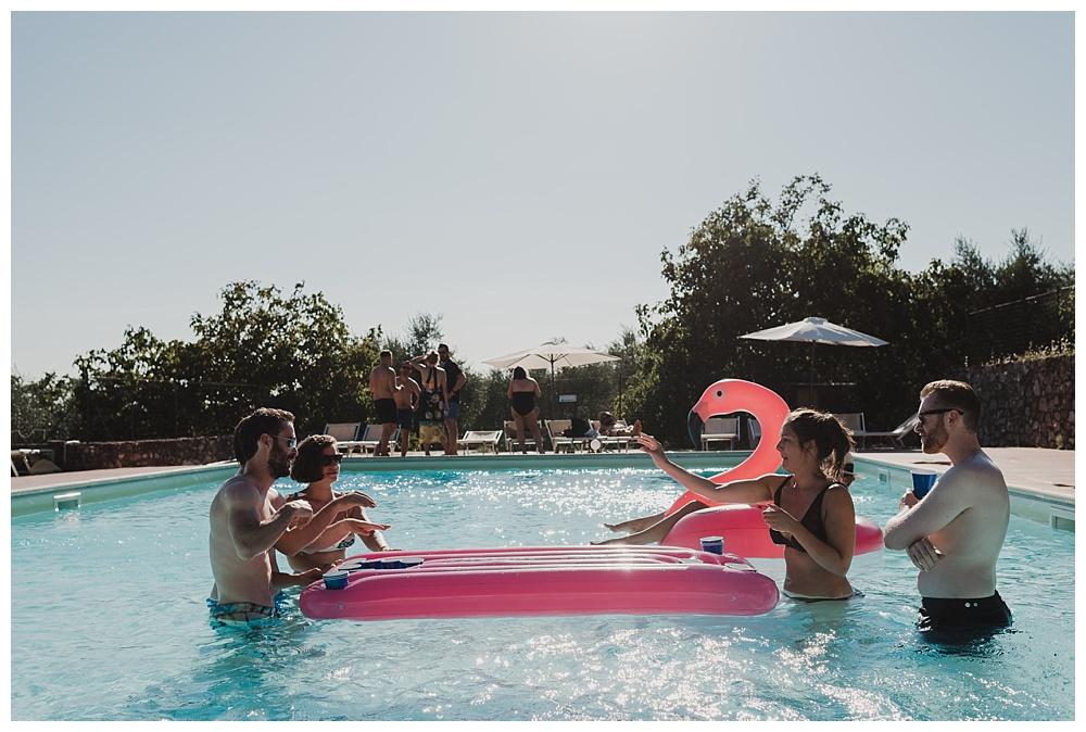 Swimming pool italian villa