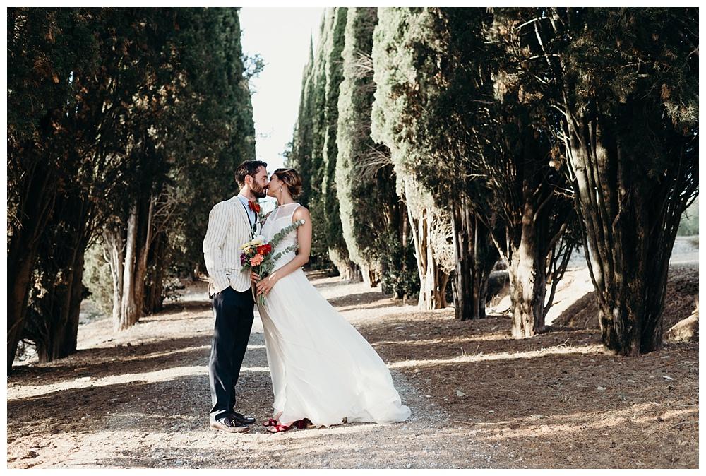 Bride and groom portraits villa catignano wedding photography