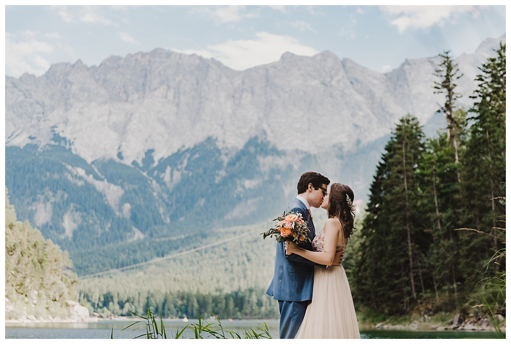 Bavarian wedding near lake eibsee