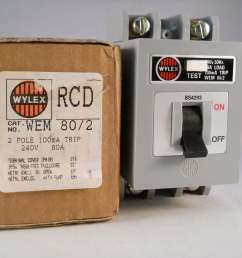 wylex rcd 80 amp 100ma double pole 80a rcd trip wem 80 2 wem80 2wylex fuse [ 3264 x 2448 Pixel ]