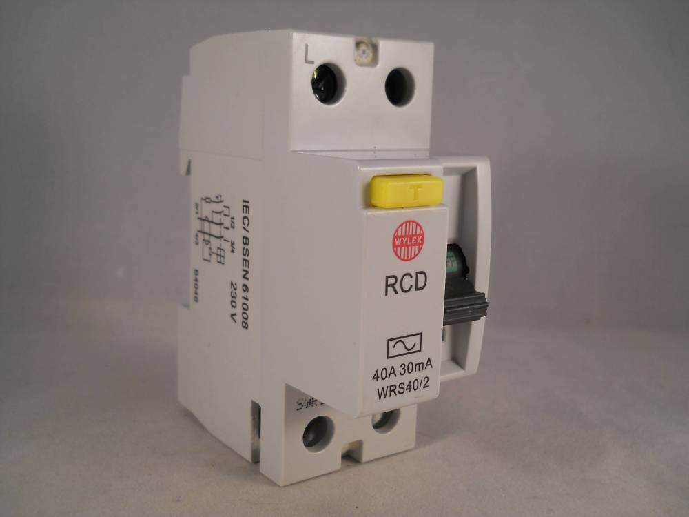 medium resolution of wylex rcd 40 amp 30ma double pole 40a rccb trip wrs40 2 willrose wylex fuse box rcd
