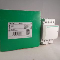 Schneider Ict 25a Contactor Wiring Diagram Raspberry Pi 2 40 Amp 4 Pole 240vac Coil N O Acti 9