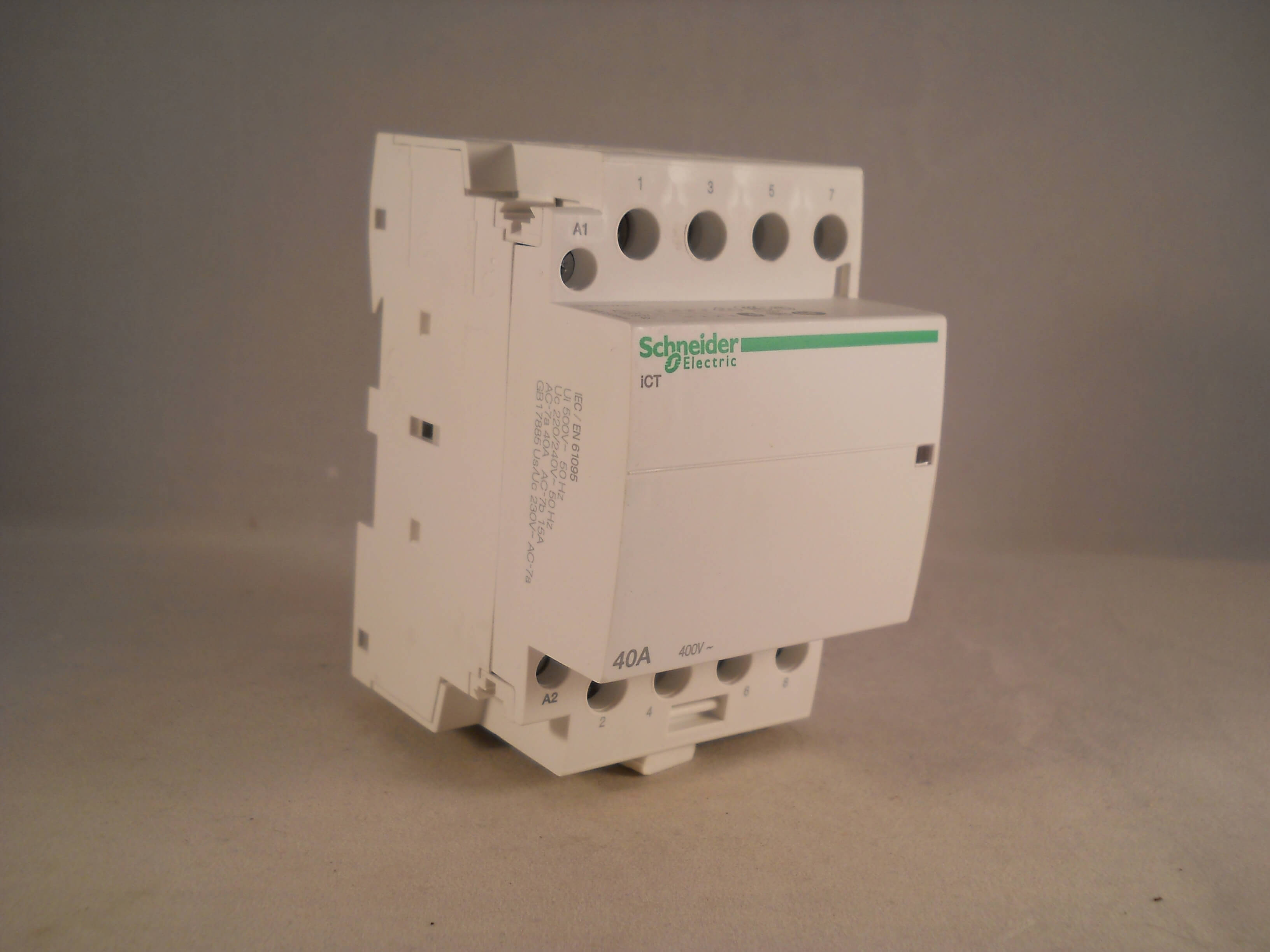 schneider ict 25a contactor wiring diagram modern house 40 amp 4 pole 240vac coil n o acti 9