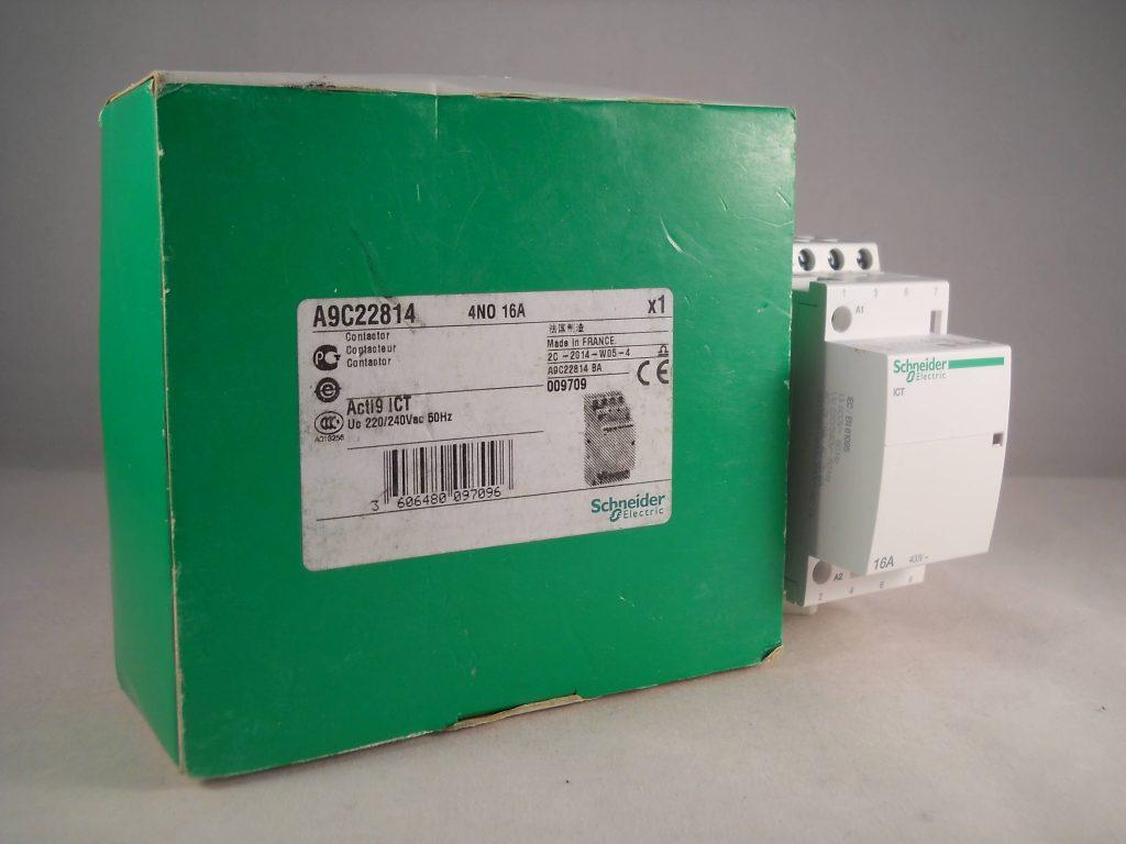 schneider ict 25a contactor wiring diagram 1993 honda civic 16 amp 4 pole 240vac coil n o acti 9
