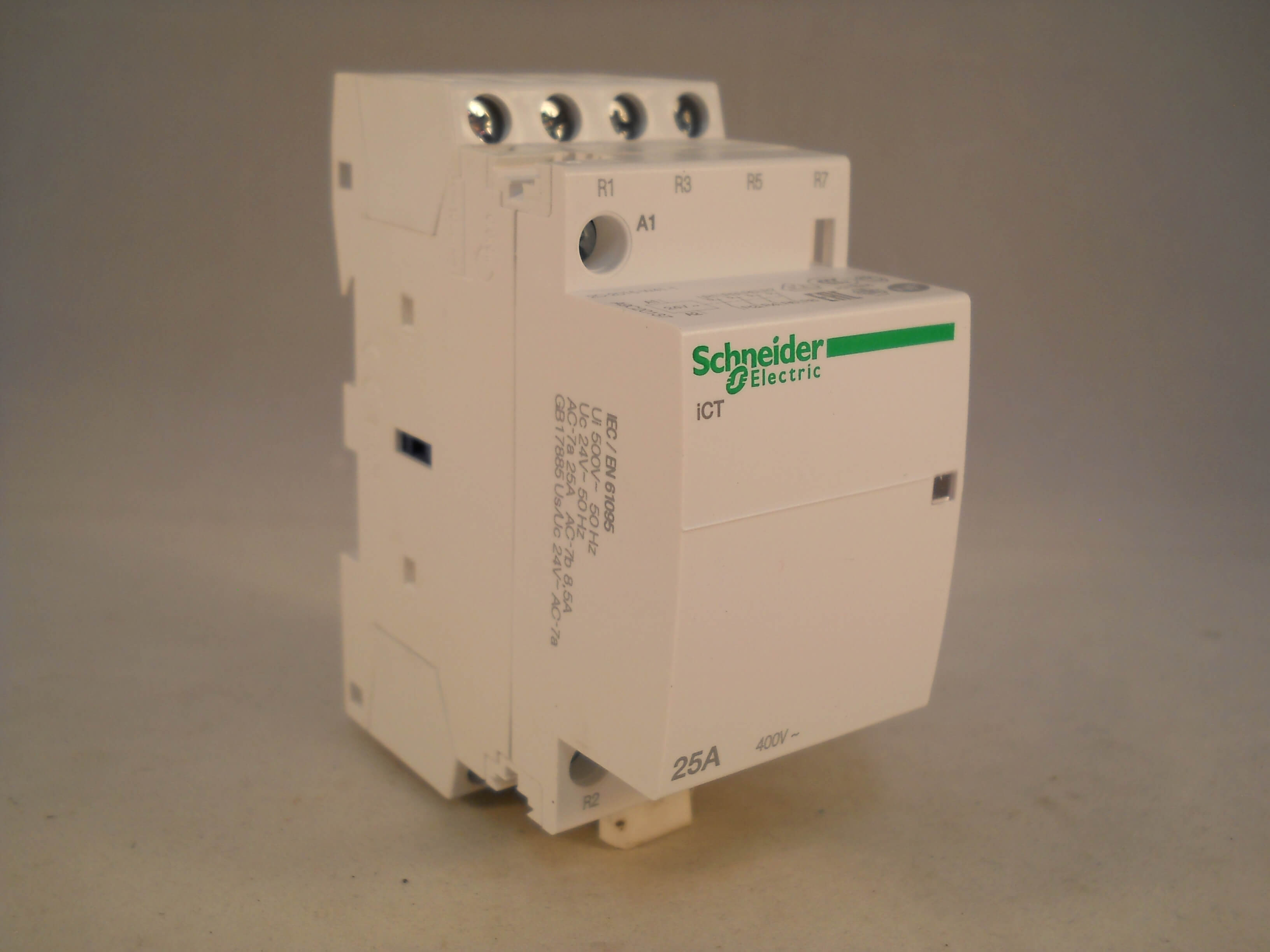 schneider ict 25a contactor wiring diagram and explain electron transport 25 amp 4 pole 24vac coil n c acti 9